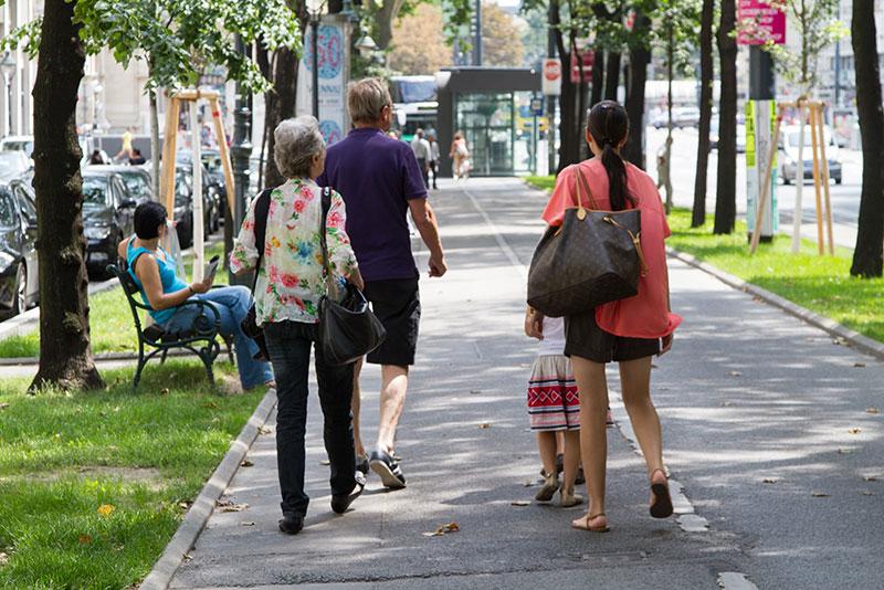 Fußgänger in Wien