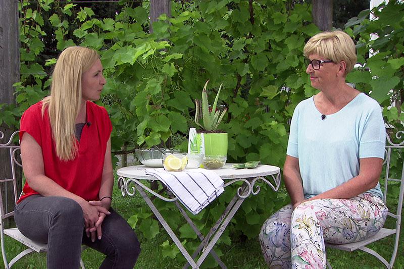 Edina Gaisecker und Kornelia Seiwald im Fernsehgarten