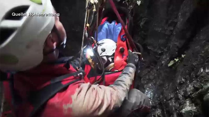 Höhlenrettung Übung für den Ernstfall