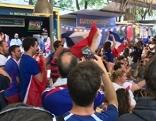 WM-Finale: Französische Fans auf der Wiener Summerstage