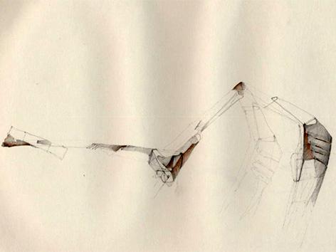 Peter Kaschnig risba TABORA galerija Vprega topografija