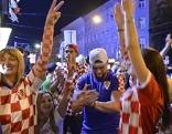 Kroaten jubeln in Ottakring
