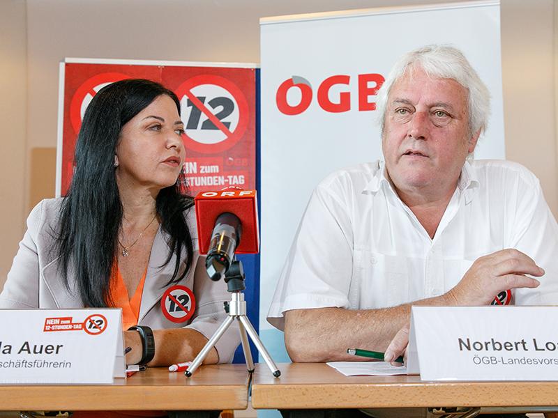 ÖGB Appell Bundesrat Norbert Loacker Manuela Auer