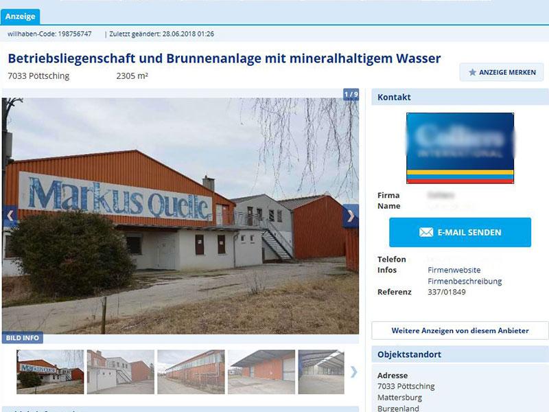 Markus Quelle Pöttsching Areal Verkauf