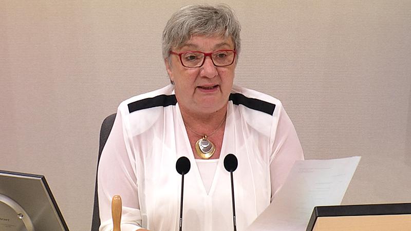 Inge Posch-Gruska bei ihrer Antrittsrede als Bundesratspräsidentin