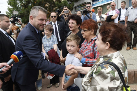 Peter Pellegrini in Medzilaborce, 3.7.2018