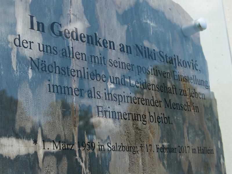 Gedenktafel für Niki Stajkovic