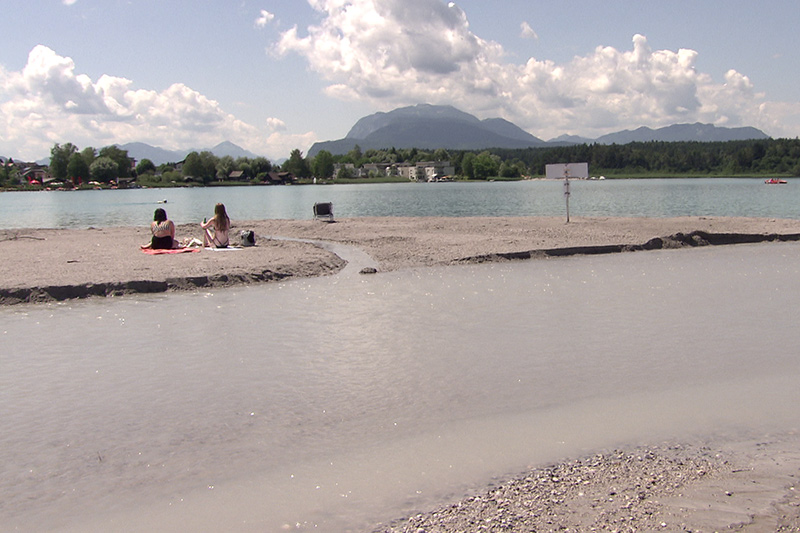 Sandbank Faaker See eröffnet