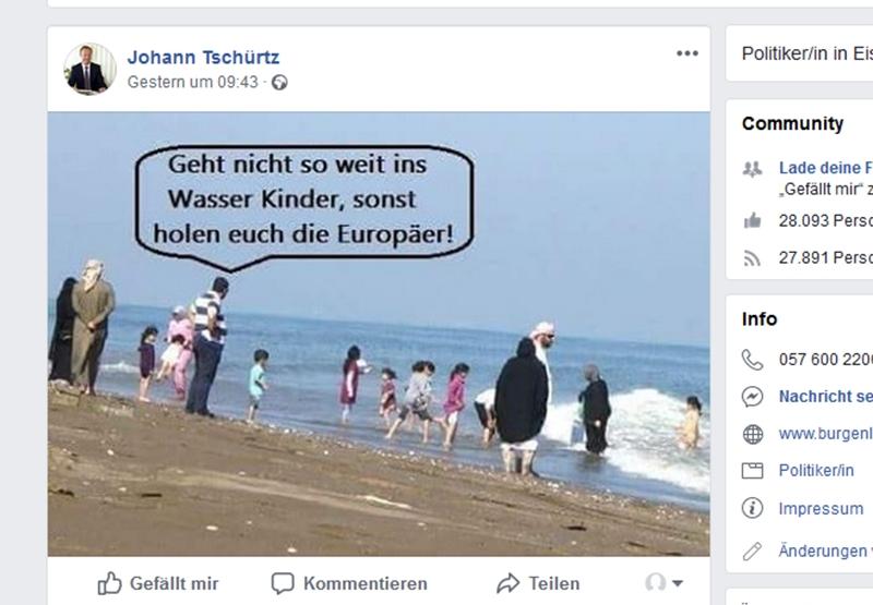 Umstrittenes Facebook-Posting von Tschürtz