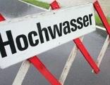 """Schild """"Hochwasser"""""""
