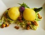 Kulinarium Schwammerlknödel auf Rahmkraut