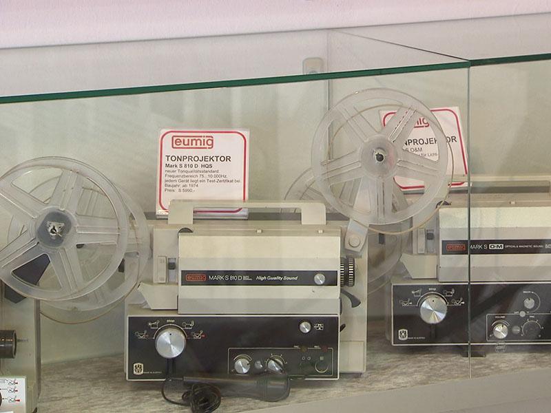 Ausstellungsstücke im Eumig Museum