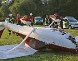 Leichtflugzeug notgelandet