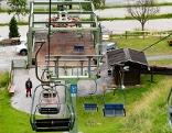 Blick auf Talstation der Glungezerbahn