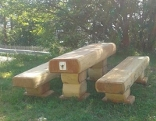 Holzgarnitur Lärchenholz