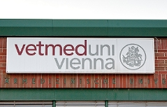 Schild Veterinärmedizinische Universität Wien