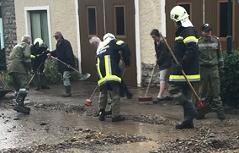 Unwetter Feuerwehr Baden Bruck Gänserndorf