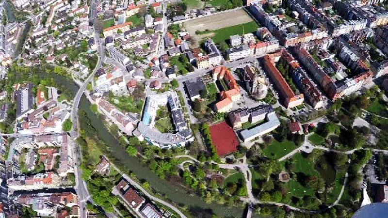 Luftaufnahme von Innsbruck-Pradl