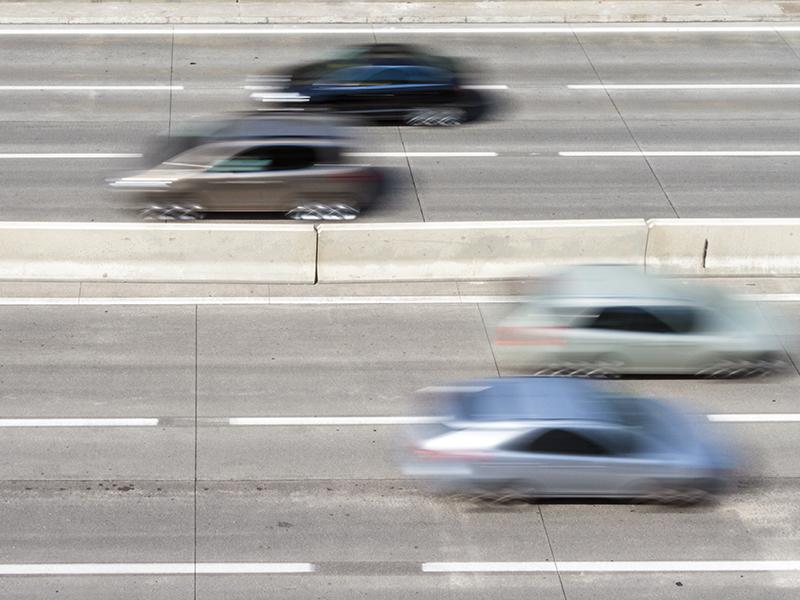 Raserei auf der Autobahn