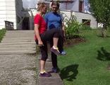Doresia Krings und Michael Mayrhofer bei Übung