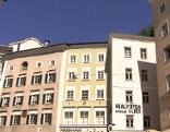 Altstadthäuser am Platzl in der Salzburger Altstadt