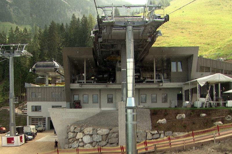 Mittelstation neugebauten Jennerbahn bei Schönau am Königssee