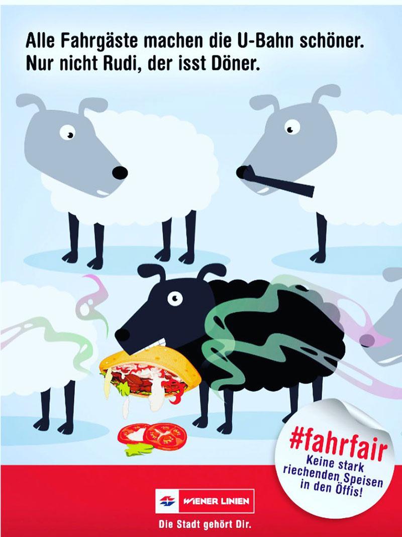 Image result for wien essen verbot zug schaf