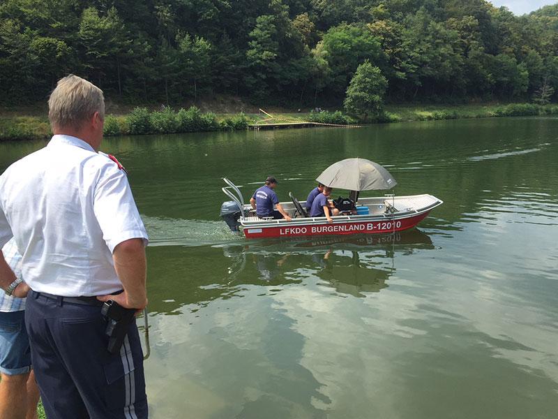 Suche mit Solarboot, Rechnitz