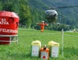 Waldbrand Bad Ischl Hubschrauber