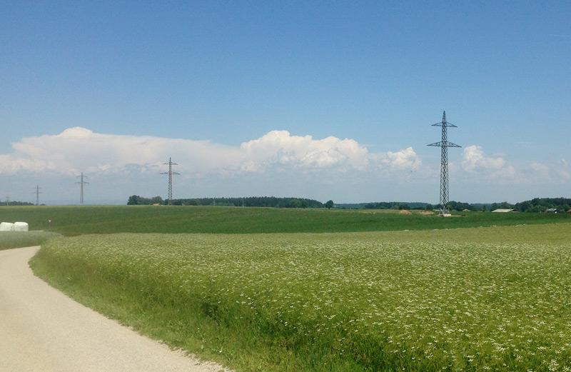Vorchdorf, Strommasten für 110 KV-Leitung
