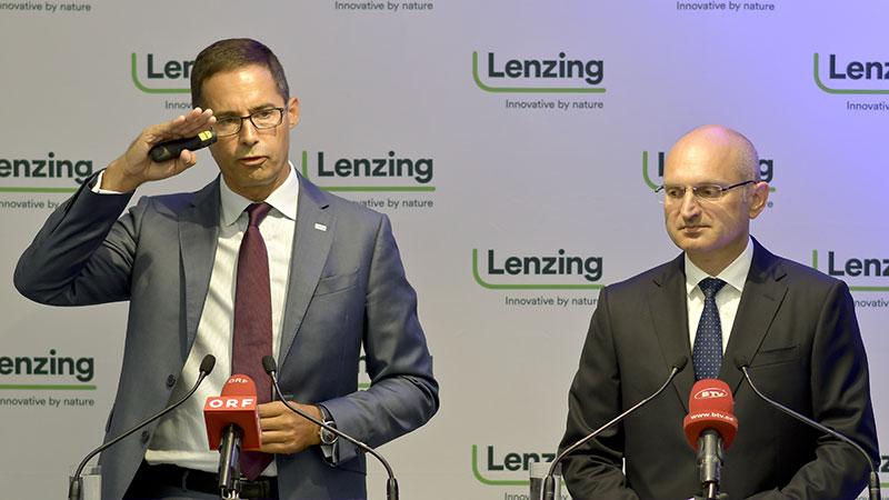 Lenzing AG-CEO Stefan Doboczky und CFO Thomas Obendrauf