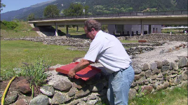 Dachziegel aus der römischen Siedlung Aguntum