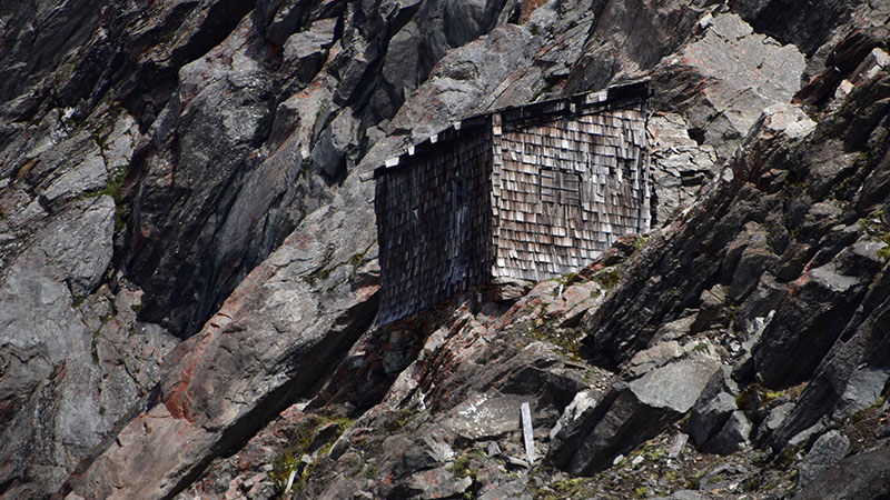 Zollwachhaus am Rotmoosjoch