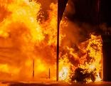 Brand bei Wertstoffinsel in Lienz