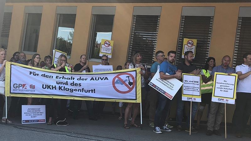 AUVA Protest Klagenfurt