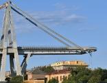 Autobahnbrücke in Genua nach Einsturz im August 2018