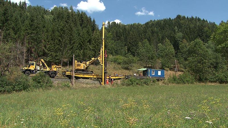 Gailtalbahn Elektrifizierung Bauarbeiten Lokalaugenschein