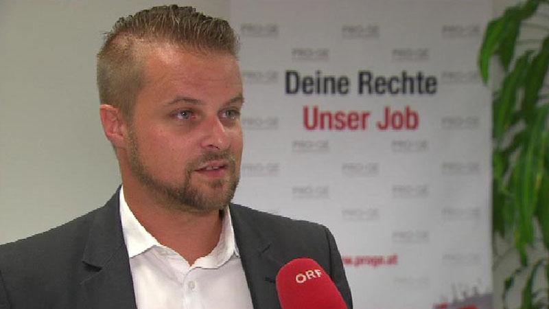 Bernhard Höfler von der Produktionsgewerkschaft.