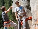 Bergführer Uwe Eder und Kletterexperte Gerhard Hörhager