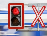 Bahnübergang Rotlicht