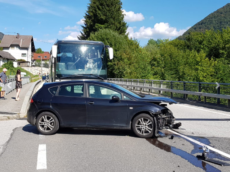 Unfallstelle B115 Eisensstraße