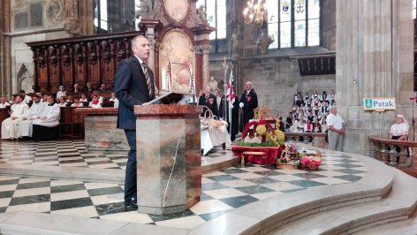 Nagy Andor bécsi magyar nagykövet a Szent István ünnepen