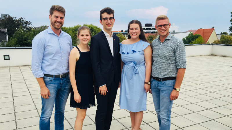 Školarska unija odbor 2018. Christoph Wolf, Katharina Dvornikovich, Julian Haring, Laura Vrbanić, Patrik Fazekas.