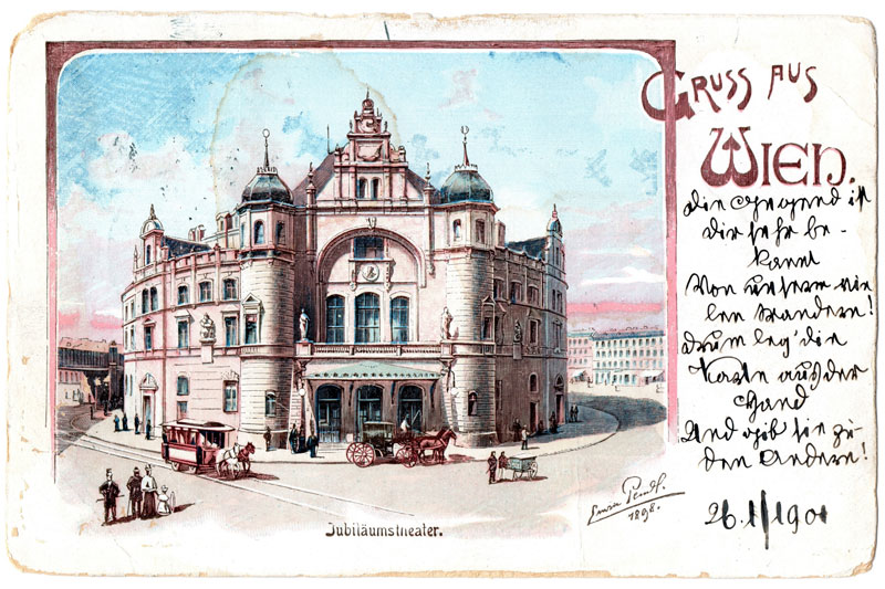 Ansichtskarte huetige Volksoper 1904