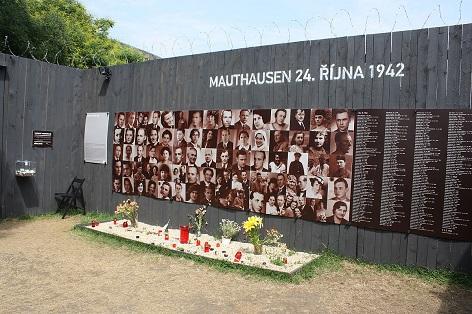 památník obětem, které byly zavražděny v koncentračním táboře Mauthausen