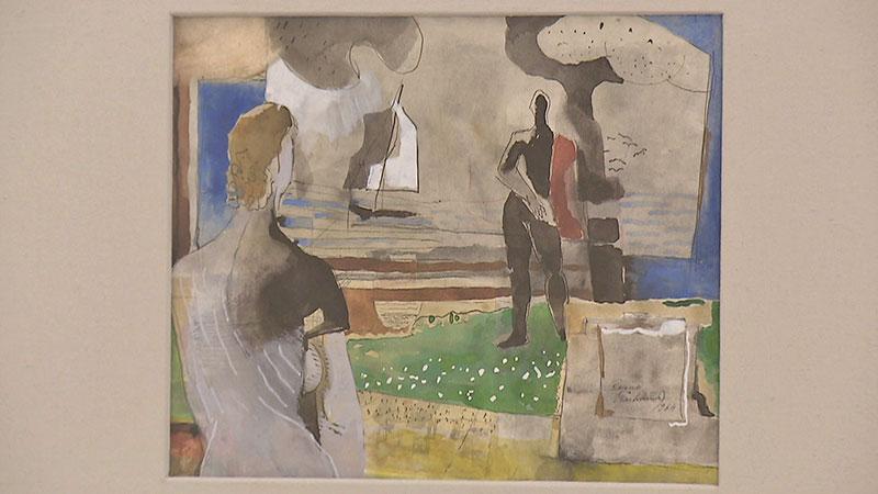 Reimo Wukounig in Alte Freunde im Museum Liaunig