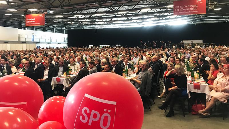 Besucher beim SPÖ-Parteitag