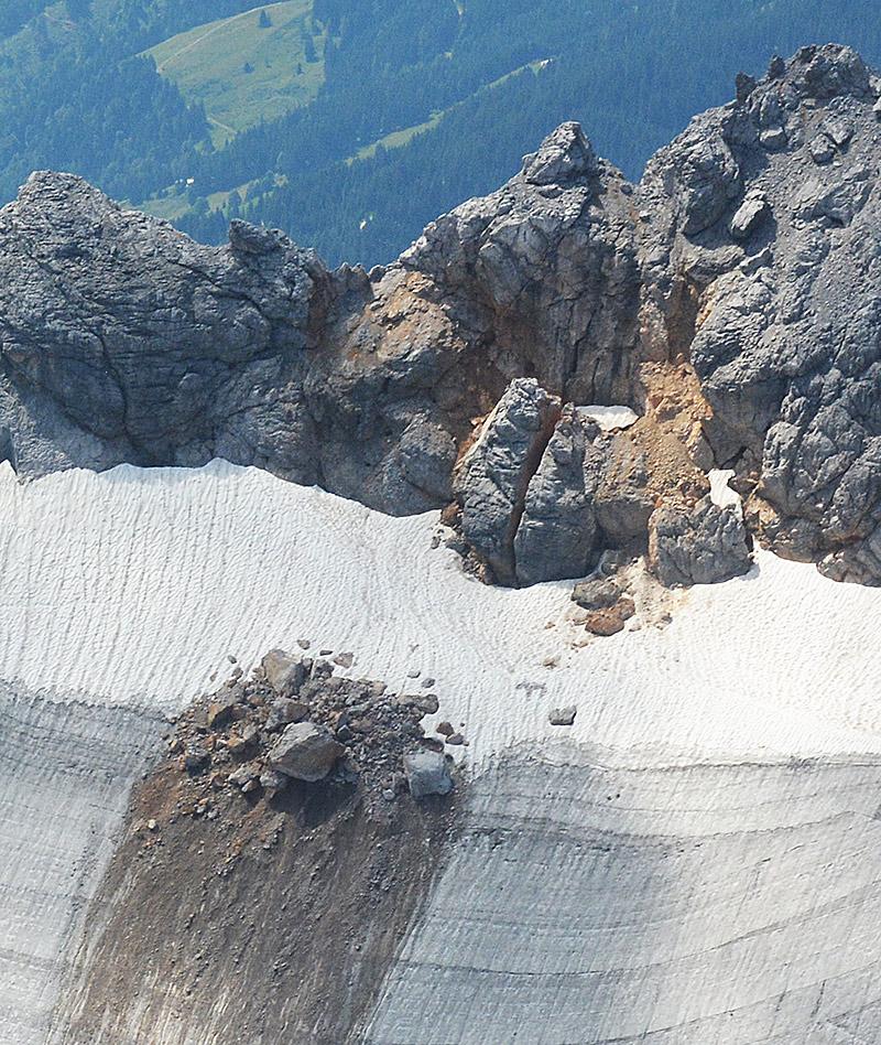 Bergsturz auf dem Steinernen Meer Hochseiler Felssturz