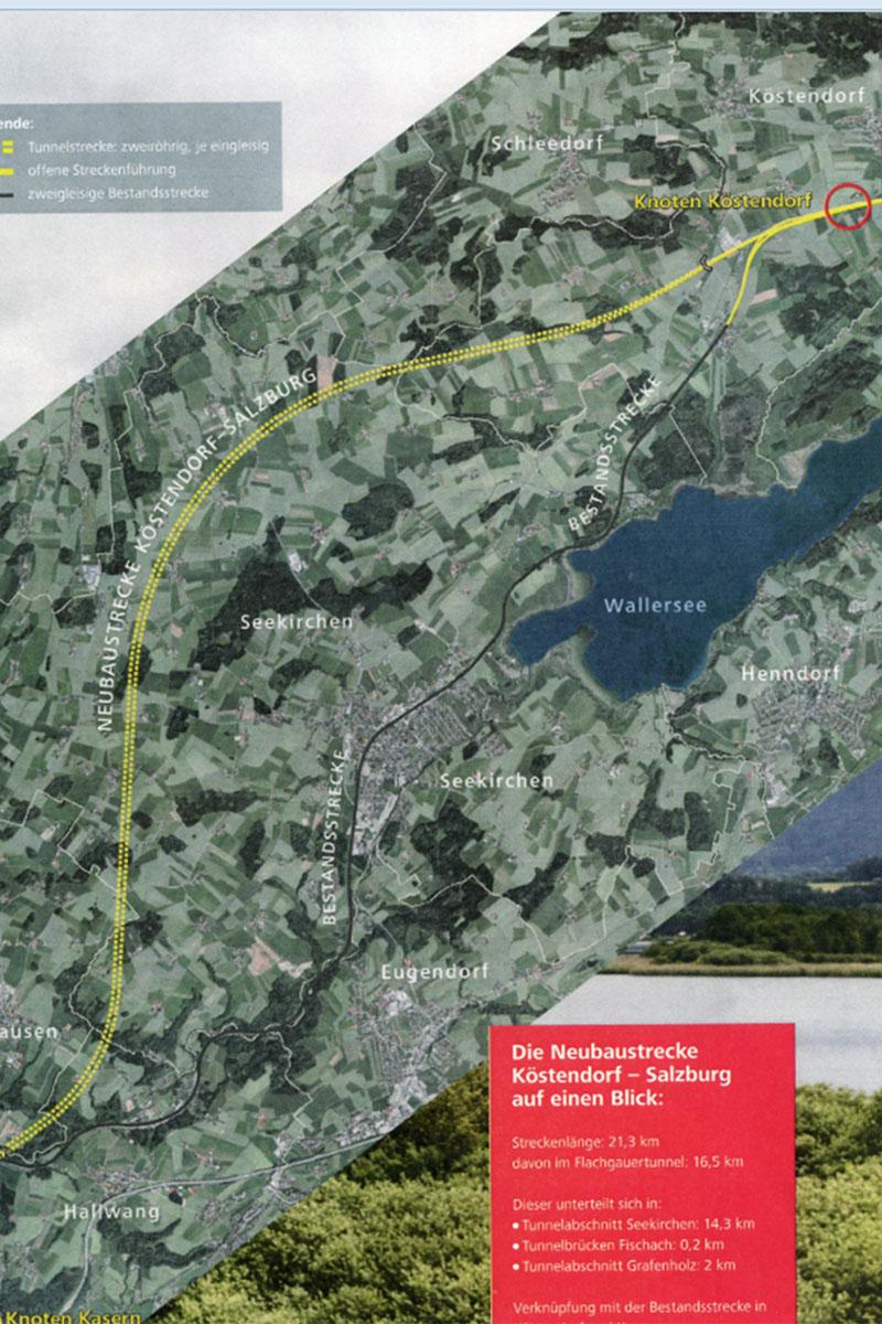 Graphik zum Verlauf der HL-Strecke