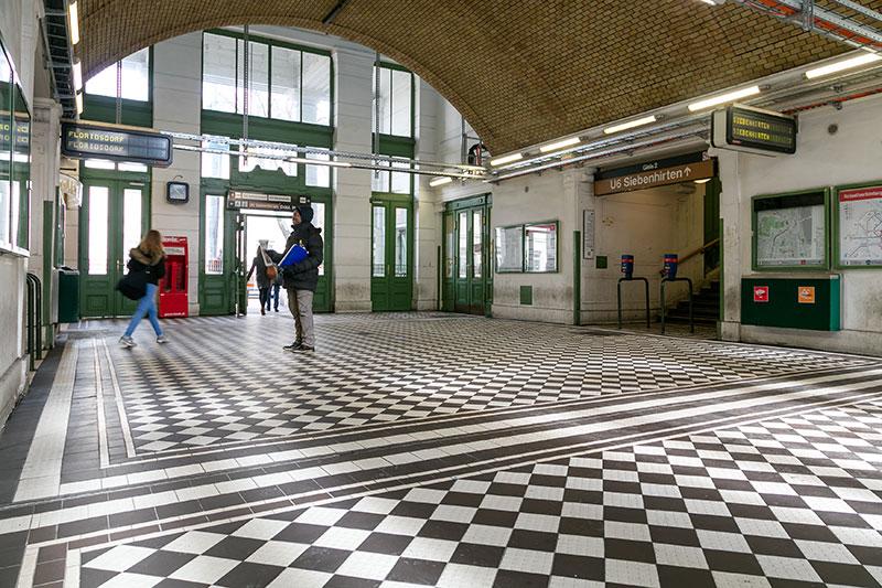Sanierte U6-Station Nußdorfer Straße